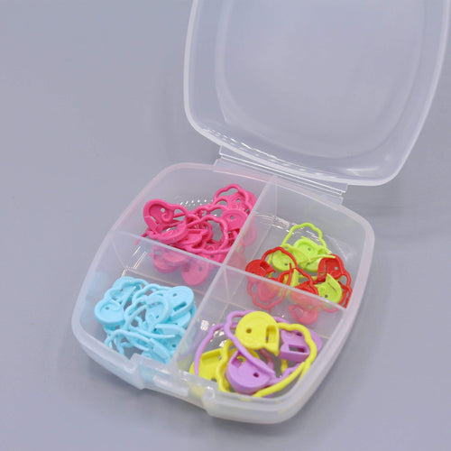 Clover Quick Locking Stitch Markers Set - WOOLS OF NATIONS