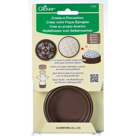 Clover Create - A - Pincushion (Brown) - WOOLS OF NATIONS