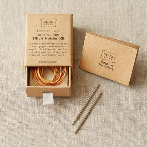 Cocoknits Leather Cord And Needle Stitch Holder Kit - WOOLS OF NATIONS