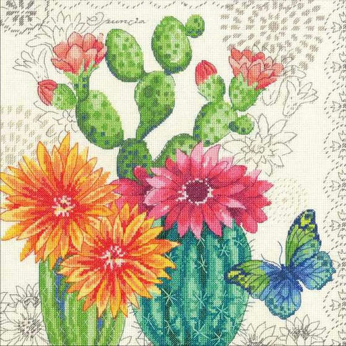 Dimensions - Cactus Bloom Cross Stitch Kit - WOOLS OF NATIONS