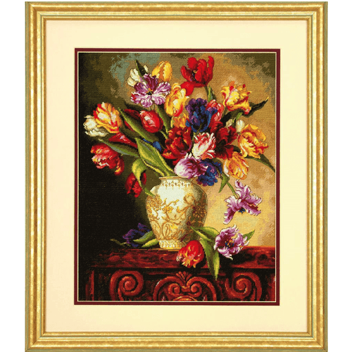 Dimensions - Parrot Tulips Cross Stitch Kit - WOOLS OF NATIONS