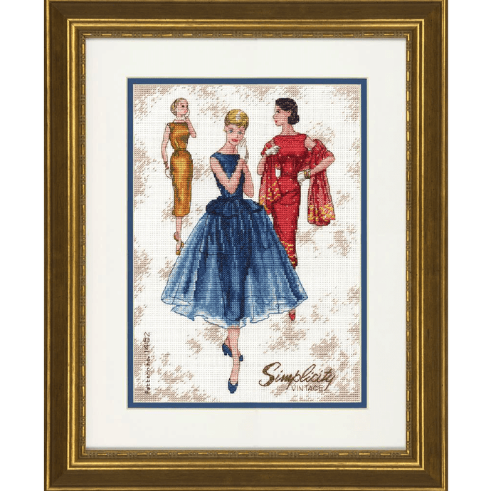 Dimensions - Simplicity Vintage Cross Stitch Kit - WOOLS OF NATIONS