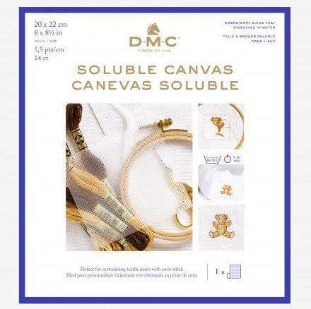 DMC Soluble Canvas 14 count - Precuts - WOOLS OF NATIONS