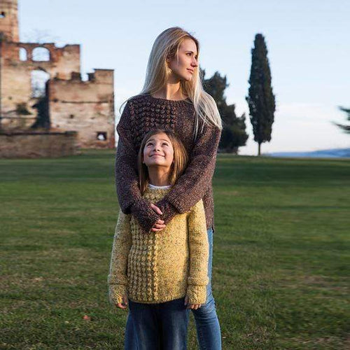 Filatura Di Crosa - Bobble Sweater - Child + Adult (PDF) - WOOLS OF NATIONS