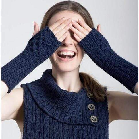 Filatura Di Crosa - Goneril Fingerless Mitts (FREE) - WOOLS OF NATIONS
