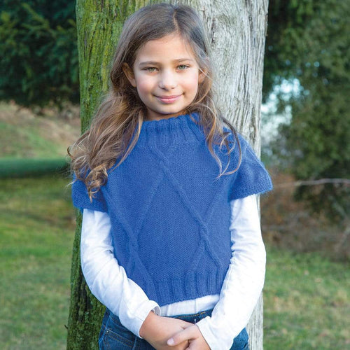 Filatura Di Crosa - Heather Royal Blue Short Top (PDF) - WOOLS OF NATIONS