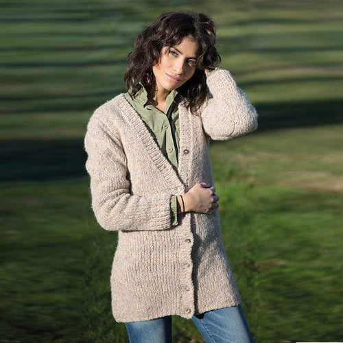 Filatura Di Crosa - Tori Beige Jacket (PDF) - WOOLS OF NATIONS