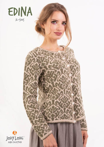Jody Long Edina Fair Isle Cardigan (PDF) - WOOLS OF NATIONS