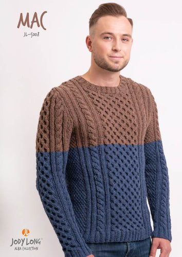 Jody Long Mac Men's Cabled Sweater (PDF) - WOOLS OF NATIONS