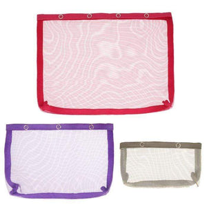 KnitPro Vibrance mesh pouches with press fastener