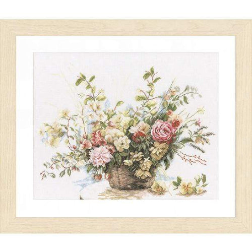 Lanarte Bouquet Of Roses Cross Stitch Kit - WOOLS OF NATIONS