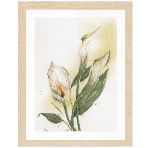 Lanarte Calla Lily Flower Cross Stitch Kit - WOOLS OF NATIONS