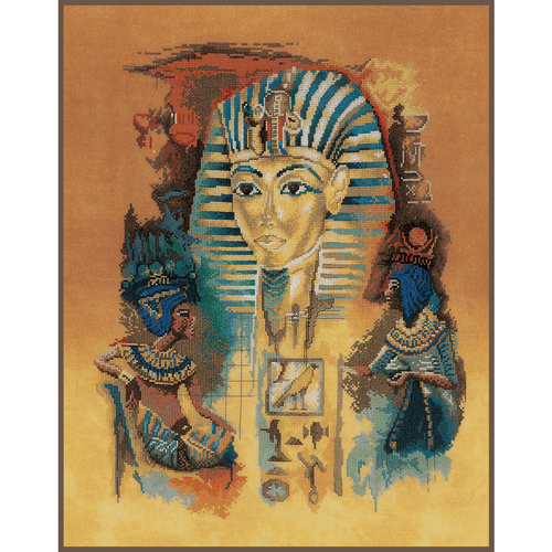 Lanarte Needlecraft Lanarte - Counted Cross Stitch Kit Tutankhamun 8712396175850