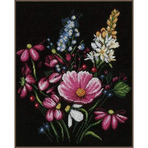 Lanarte Flowers Cross Stitch Kit - WOOLS OF NATIONS