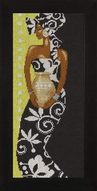 Lanarte Lady With Vase Cross Stitch Kit - WOOLS OF NATIONS