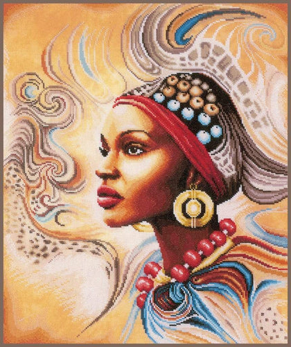 Lanarte Mother Africa Cross Stitch Kit - WOOLS OF NATIONS
