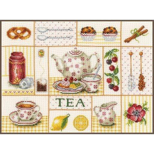 Lanarte Tea Party Cross Stitch Kit - WOOLS OF NATIONS