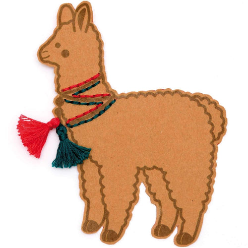 Rico Design Llama Embroidery Board Kit - WOOLS OF NATIONS