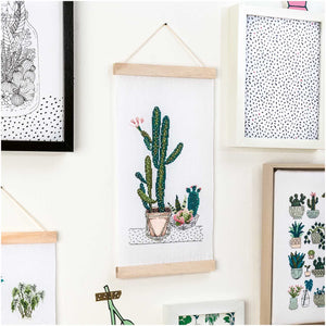 Rico Design Cacti Wall Hanging Cross Stitch Kit - WOOLS OF NATIONS