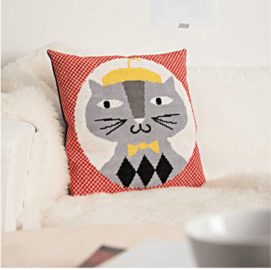 Rico Design Cat Gobelin Cushion Cross Stitch Kit - WOOLS OF NATIONS