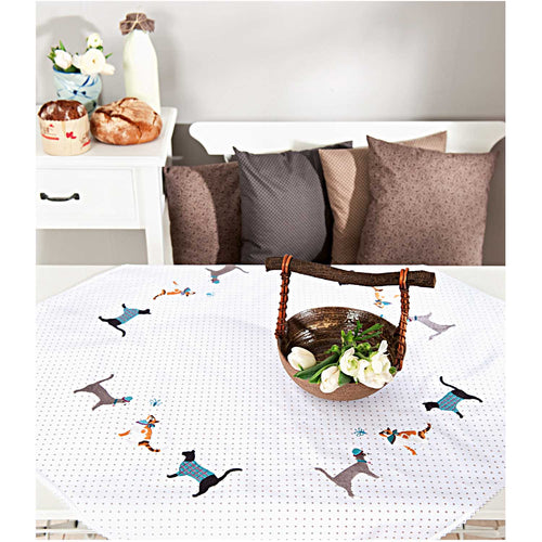 Rico Design Cats and Dogs Tablecloth Embroidery Kit - WOOLS OF NATIONS