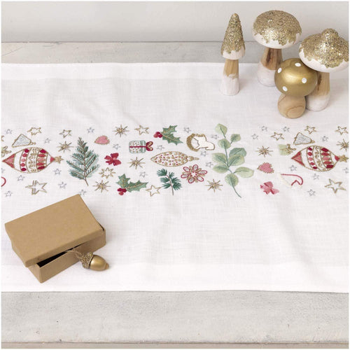 Rico Design Christmas Star Table Runner Embroidery Kit - WOOLS OF NATIONS