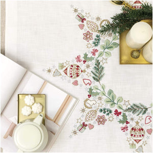 Rico Design Christmas Star Tablecloth Embroidery Kit - WOOLS OF NATIONS