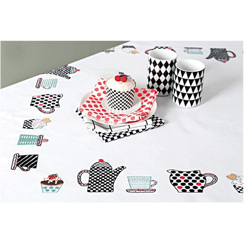 Rico Design Coffee Tablecloth Embroidery Kit - WOOLS OF NATIONS