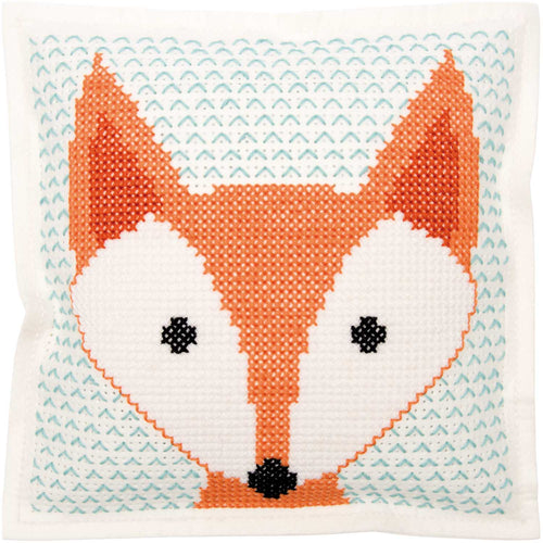 Rico Design Felt Fox Cushion Cross Stitch Kit - WOOLS OF NATIONS