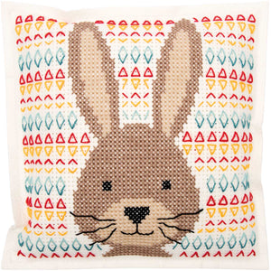 Rico Design Felt Hare Cushion Cross Stitch Kit - WOOLS OF NATIONS