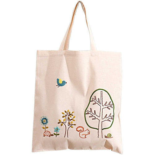 Rico Design Forest and Meadow Canvas Bag Embroidery Kit - WOOLS OF NATIONS