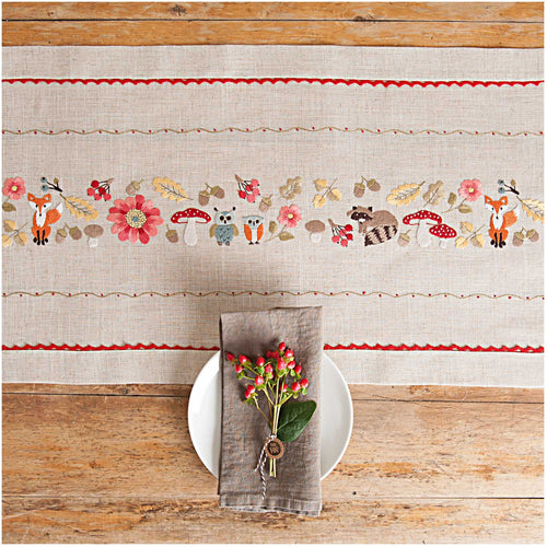 Rico Design Forest Animals Table Runner Embroidery Kit - WOOLS OF NATIONS