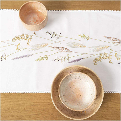 Rico Design Grass Wreath Table Runner Embroidery Kit - WOOLS OF NATIONS