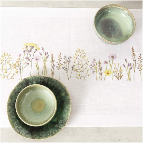 Rico Design Herbal Meadow Table Runner Embroidery Kit - WOOLS OF NATIONS