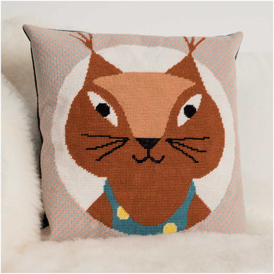 Rico Design Squirrel Gobelin Cushion Cross Stitch Kit - WOOLS OF NATIONS