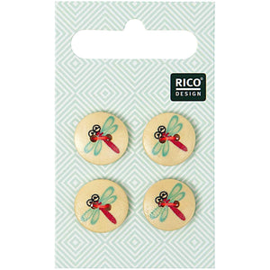 Rico Design Buttons With Dragonfly 15mm