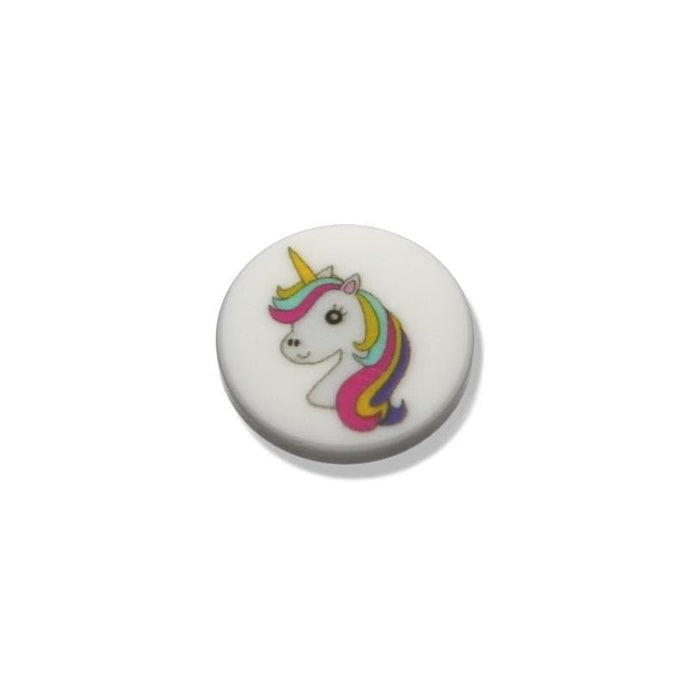 White Button With Unicorn Motif 18 mm - WOOLS OF NATIONS