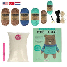 Load image into Gallery viewer, Tuva Boris The Bear Amigurumi Kit - WOOLS OF NATIONS