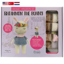 Load image into Gallery viewer, Tuva Rhiannon The Bunny Amigurumi Kit