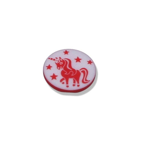 Button With Unicorn Motif 15 mm - WOOLS OF NATIONS
