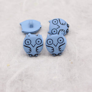 Owl Shaped Button 15mm