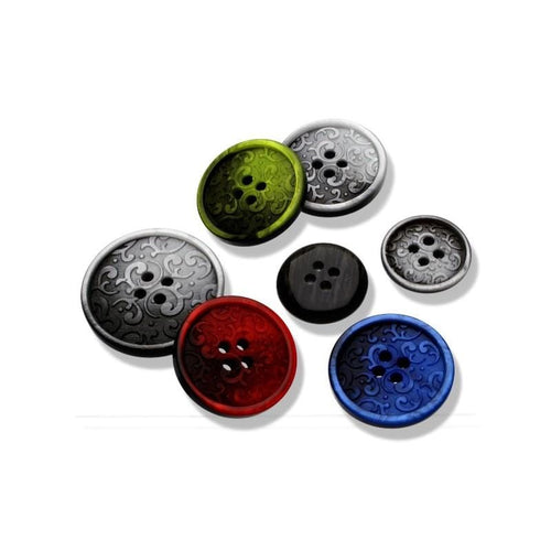 Button With Decorative Motif 18 mm / 23 mm - WOOLS OF NATIONS