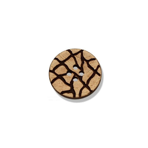 Coconut Button With Engraved Motif 20-25-34 mm - WOOLS OF NATIONS