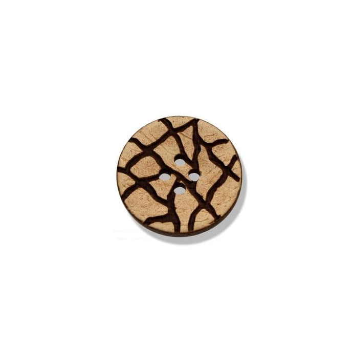 Coconut Button With Engraved Motif