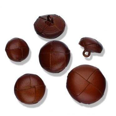 Leather Football Button 15-18-20-23 mm - WOOLS OF NATIONS