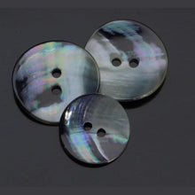 Load image into Gallery viewer, Mother Of Pearl Silver-Grey Button - WOOLS OF NATIONS