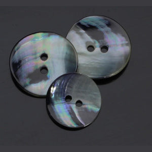 Mother Of Pearl Silver-Grey Button 15-20-25 mm - WOOLS OF NATIONS