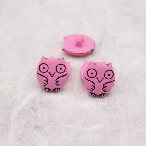Owl Shaped Button 15 mm - WOOLS OF NATIONS