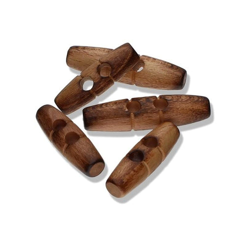 Wooden Toggle Button 40 mm - WOOLS OF NATIONS