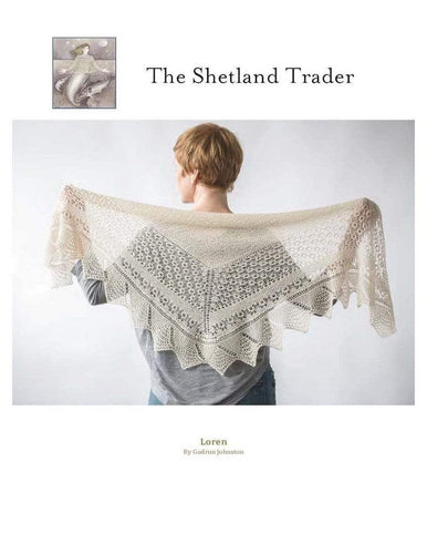 The Shetland Trader Loren Shawl - WOOLS OF NATIONS